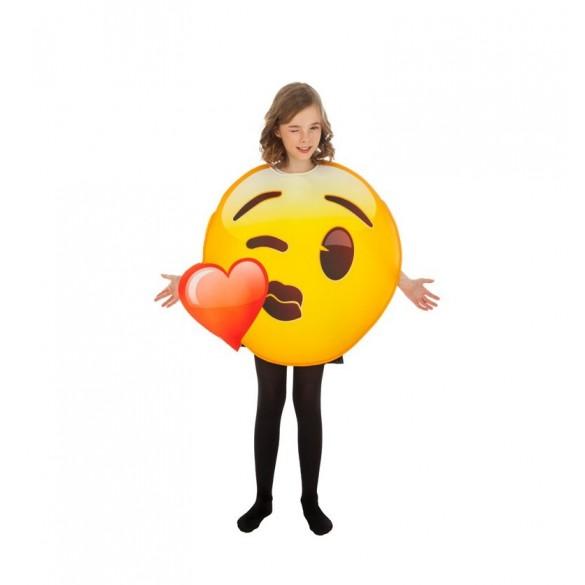 Déguisement Emoji Bisou Coeur Enfant Déguisement Humoristique Geek