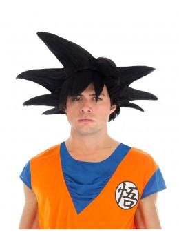 Perruque Manga Goku Saiyan noire officielle