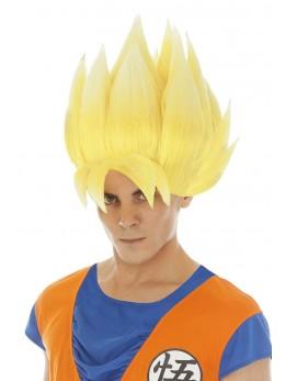 Perruque Manga Goku Saiyan jaune officielle