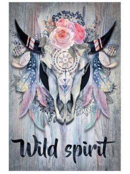 "Décor grand cadre avec toile ""wild spirit"""