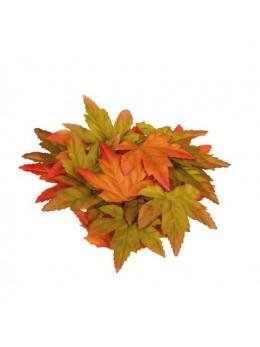 20 feuilles d'automne oranges et vertes