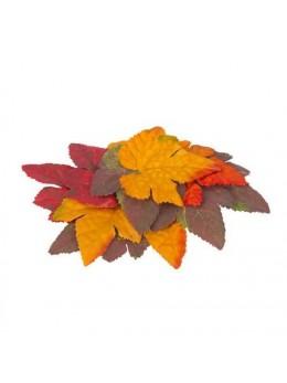 32 feuilles d'automne vertes, jaunes, rouges, oranges