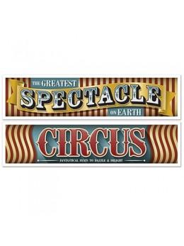 2 Bannières cirque vintage