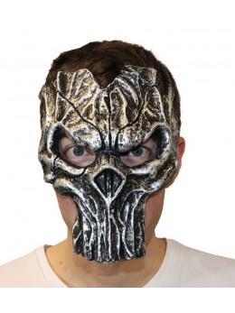 Masque 1/2 visage squelette