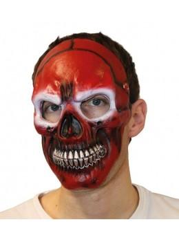 Masque squelette rouge