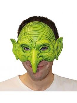 Masque 1/2 visage gnome vert