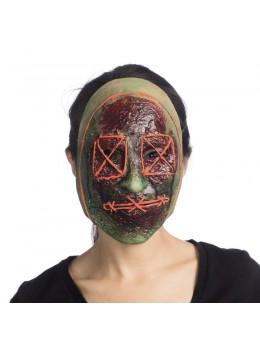 Masque zombie recousu fluo