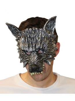 Masque latex 1/2 visage loup garou