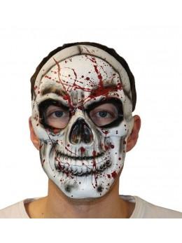 Masque visage squelette bloody