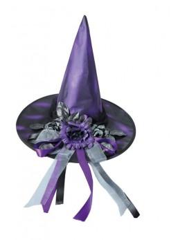 Chapeau sorcière élégante violette