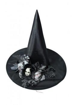 Chapeau sorcière élégante décoré