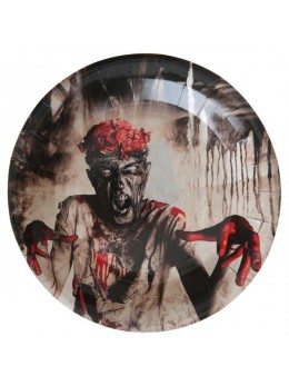 10 assiettes zombies Halloween
