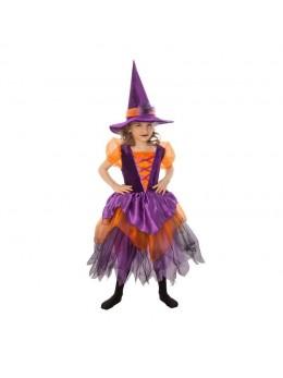 Déguisement sorcière violette