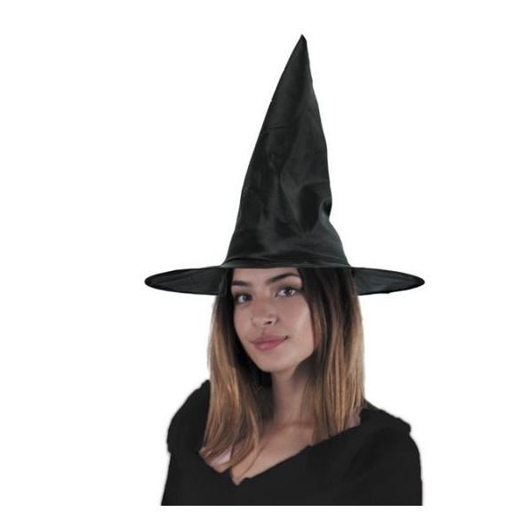 Chapeau sorcière toile noir