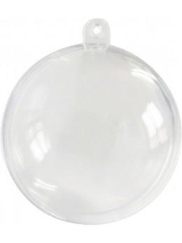 20 Boules PVC transparente 5cm