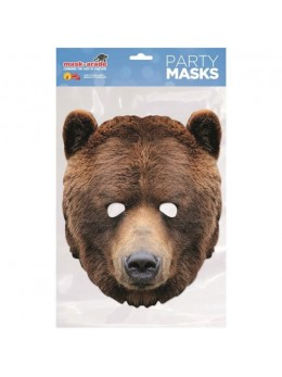 Masque carton ours brun