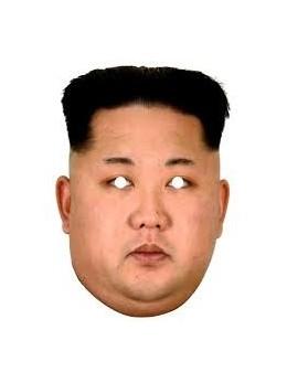 Masque carton Kim Jong Un