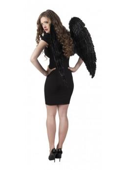Ailes d'ange plumes noires géante