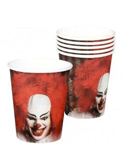 6 Gobelets clown d'horreur