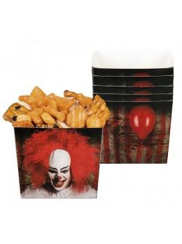 6 coupelles clown d'horreur