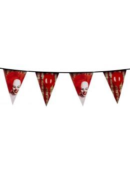 Guirlande fanions clown d'horreur