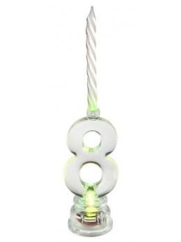 Bougie LED chiffre 8