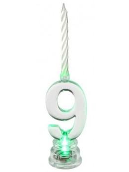 Bougie LED chiffre 9