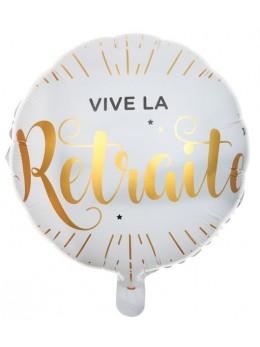 Ballon alu Vive la retraite