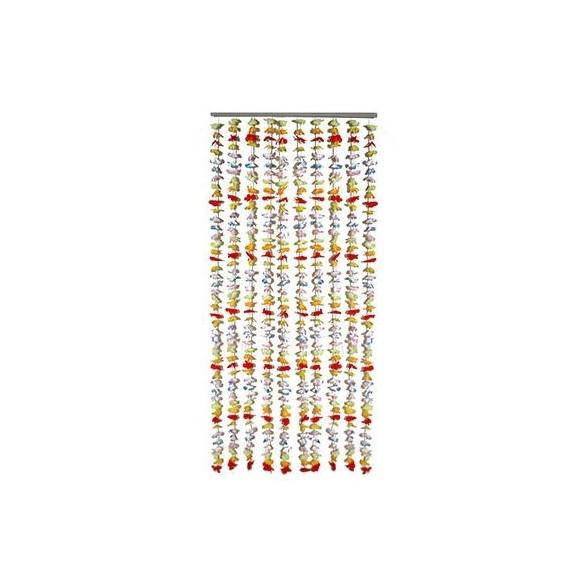 Rideau de porte fleurs 160cm