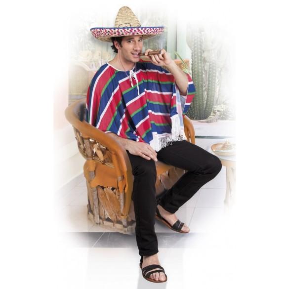 Déguisement Poncho Mexicain + chapeau