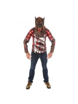 Déguisement Tshirt loup garou avec masque