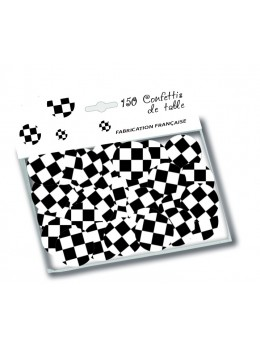 150 confetti de table damier