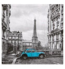 20 Serviettes Paris Bleu