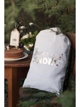 Sac cadeaux Noël nature et or