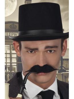 moustache détective noire