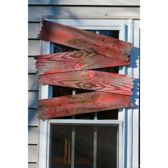 décor planches bois ensanglanté