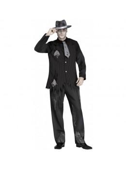 Déguisement homme gangster zombie