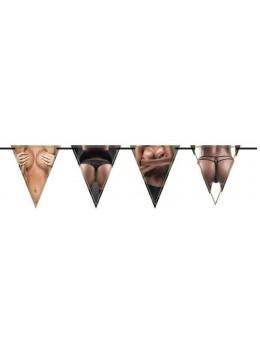 Guirlande fanions femme nue 6m