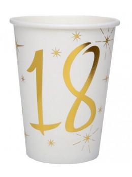 10 gobelets dorés 18 ans
