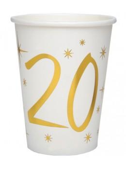 10 gobelets dorés 20 ans
