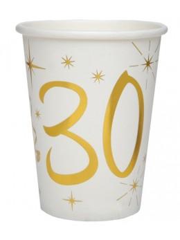 10 gobelets dorés 30 ans