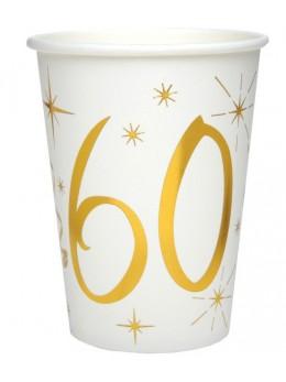 10 gobelets dorés 60 ans