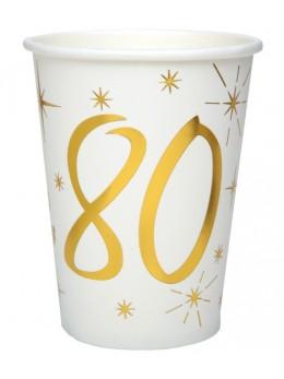 10 gobelets dorés 80 ans