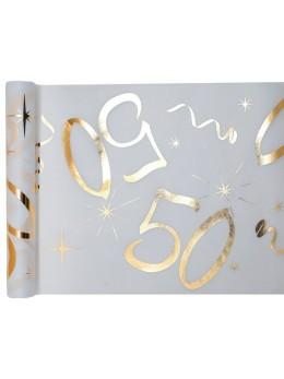 Chemin de table age doré 50 ans