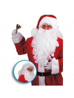 barbe et perruque père Noël blanc
