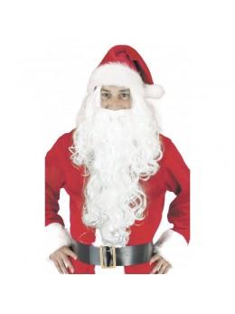 Perruque et barbe longue du Père Noël