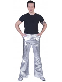 Pantalon disco fever argent