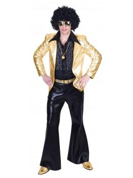 Déguisement veste homme disco or