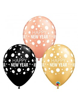 10 Ballons Happy New Year 30cm