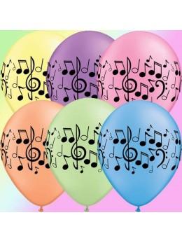 10 Ballons musique multico 30cm